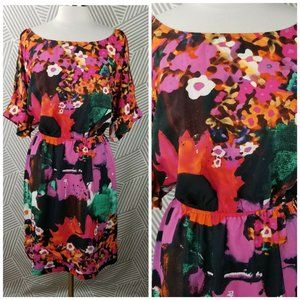 Plus Size 20W 2X Floral Dress floral Hawaiian